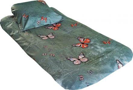 satyna bawelniana szare motyle
