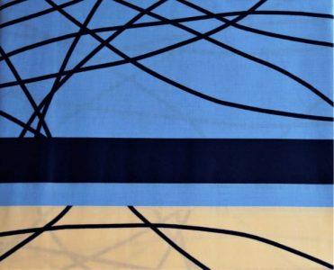 satyna niebiesko-kremowaa
